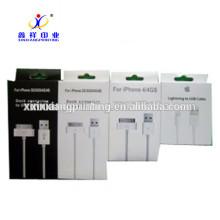 Китайский завод Оптовая USB провода Упаковывая бумажные коробки Упаковка,сертификат ISO9001:2008