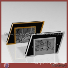 Equisite Modern High Transparency Parallelogram Acrylic/PMMA Picture/Photo/Card Holder/Frame/Stand