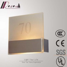 Satin Nickel Square Glass Wall Lamp with LED Strip