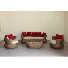 Great Design Natural Water Hyacinth Sofa Set for Indoor Furniture