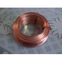 Brass Coated Flat Wire 0.7mmx2mm, 0.9mmx2mm