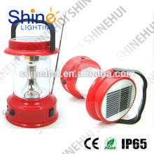 Fonte de alta qualidade verde levou lanterna camping lanterna solar rádio carregador móvel