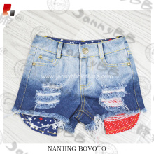 Shorts for girls love bleached ombre denim