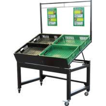 Supermarkt Stahl Gemüse und Obst Display Rack