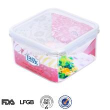 багряником воздухонепроницаемая пластиковая квадратная миска