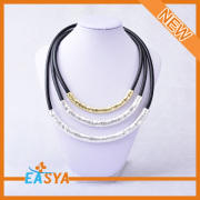 Wholesale Many Chain Necklace Plain Leather Necklace