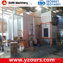 Small Cyclone Powder Recovery Electrostatic Powder Coating Booth