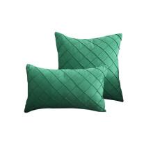 Cheap Custom fashionable design embossed solid velvet cushion for home decoration