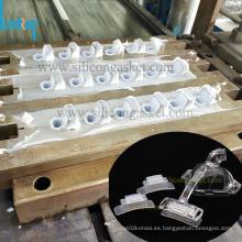 Herramienta de molde de compresión personalizada para almohadilla de silicona para la frente