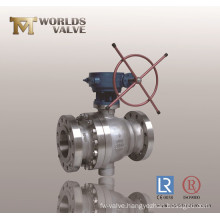 CF8m Flanged Ball Valve with Worm Gear