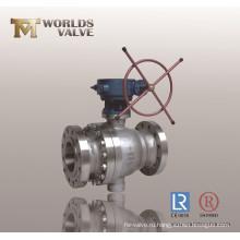 Служить фланцем шариковый клапан cf8m шариковый клапан с шестерней Глиста