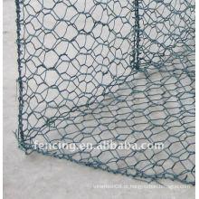 Caixas de gabião revestidas de PVC verde