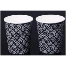 Taza de café acanalada, taza de papel, taza de publicidad, taza de té con leche