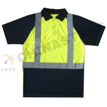 Wicking hi vis Polohemd, Sicherheits-T-Shirt, Sicherheitsarbeit Polo-Shirt