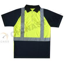 Wicking привет vis рубашка-поло, безопасность футболка, безопасность работа рубашка-поло
