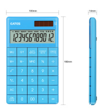 EATES High quality Solar ABS Flat calculator manufacture with supporting stand