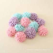 Mode enfants hari accoressries fantaisie fleur pinces à cheveux pour fille, 4 pcs un ensemble enfants hari accoressry