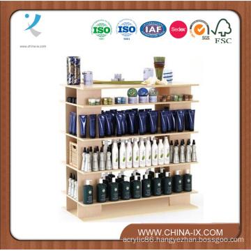 4′ Wide Wooden Stand Alone Salon Display Shelf