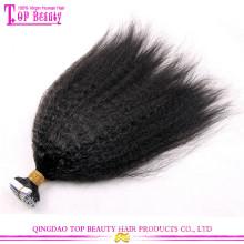 Extensões cobradas por atacado extravagantes populares super do cabelo da fita das extensões do cabelo da fita encaracolado dobro super