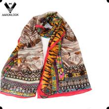 Echarpe mélangée à la mode en soie et à la mode