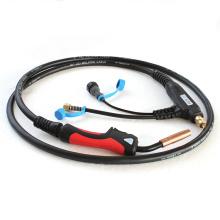 Tocha de soldadura padrão do comprimento de cabo 200A MIG da venda quente com punho vermelho