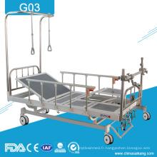 Prix orthopédique manuel médical de lit de traction d'hôpital économique de G03 avec quatre manivelle