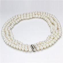 Snh 8-9mm eine einfache Perlen Halskette Schmuck
