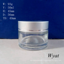 50ml Glass Cream Jar Glass Skincare Cosmetic Jar Wholesale