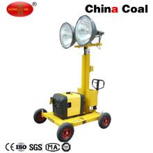 Chine Or fournisseur télescopique construction petite tour d'éclairage portable