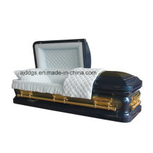 Blaue Kiste mit Gold Pinsel