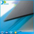 Alta transmissão de luz policarbonato oco toldo folha de parede de parede tripla