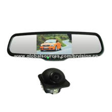 """Car rear view system with 4.3"""" after market mirror monitor and wide view angle waterproof cameraNew"""
