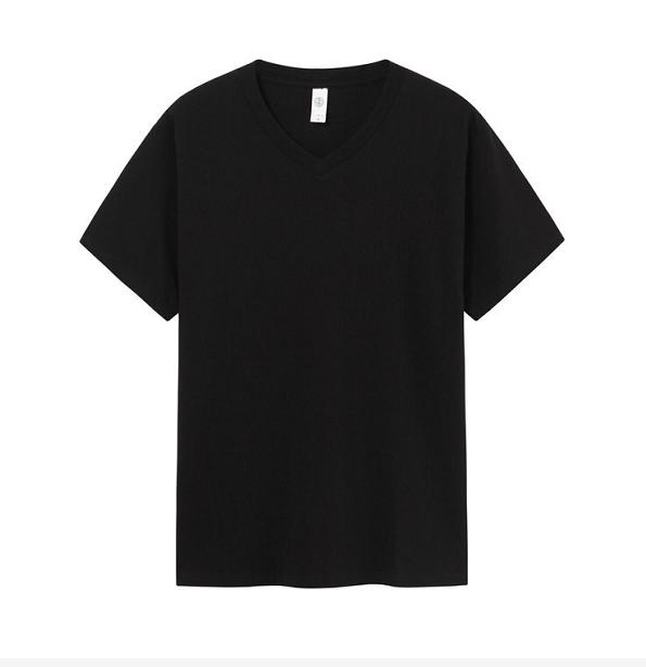 Mens Womens VEE Neck Cotton T-shirt