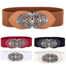 Grace Karin Women Ladies Girls Fashion Wide Metal Hook Stretchy Waistband Elastic Waist Belt CL010414