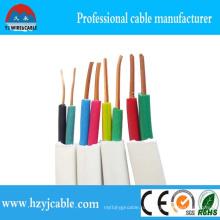 BVVB плоский кабель 2core 1,5 мм 2,5 мм чистого медного водонепроницаемого наружного электрического провода