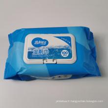Papier hygiénique humide jetable en coton