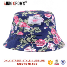 high quality custom print floral bucket hats wholesale