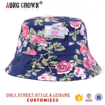 high quality custom print floral bucket hats wholesale