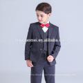 2016 nuevo bebé de la manera vestido formal traje de niño de burbuja de color negro al por mayor
