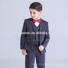 2016 nova moda bebê menino vestido formal cor preta bolha menino terno atacado