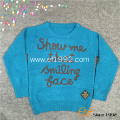 Kids Crew Neck Long Sleeves Pullover Sweater