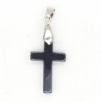 2016 Trendy Product Ethnic Hematite Cross Pendant for Birthday Gift