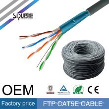 SIPU precio de fábrica 305 m ethernet resistente al fuego rj45 ftp cat5e lan 4pr 24awg cable de red