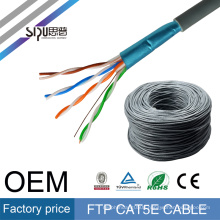 SIPU factory price 305m ethernet fire resistant rj45 ftp cat5e lan 4pr 24awg network cable
