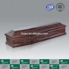 Venda quente caixões LUXES estilo italiano Poplar caixões caixão de madeira