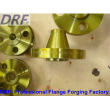 ANSI B16.5, Forging Flange, Welding Neck Flange, Yellow Painted