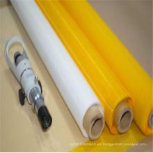 Tela de malla amarilla de la impresión de pantalla del poliéster para la materia textil