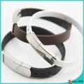 Bracelet en cuir véritable avec boucle pour cadeau
