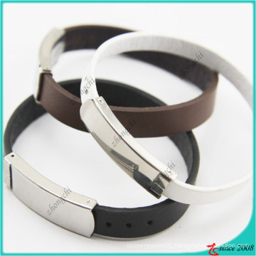 Genuine Leather Bracelet with Buckle for Gift