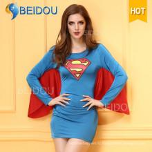 Женщины Необычные платья Японский медсестра Сексуальный костюм Супермен Хэллоуин